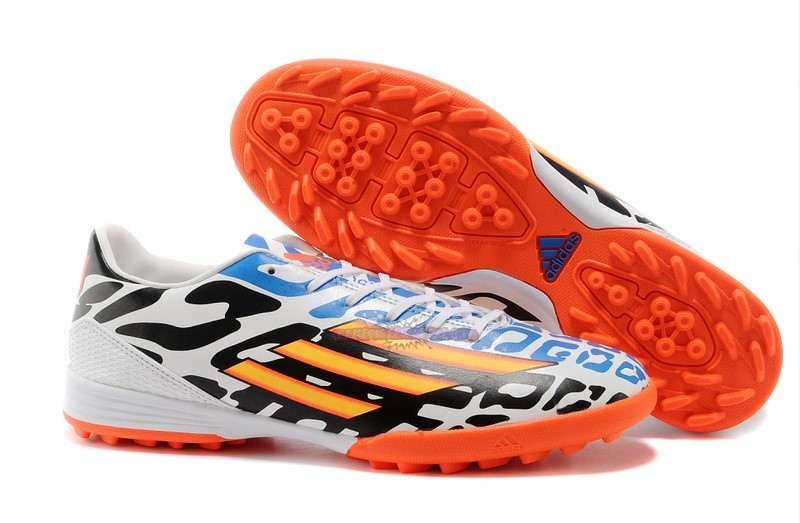 Ventes Adidas Messi F50 TF Blanc Noir Orange