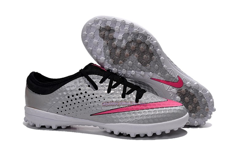 Ventes Nike Elastico Finale III TF Argent Rouge