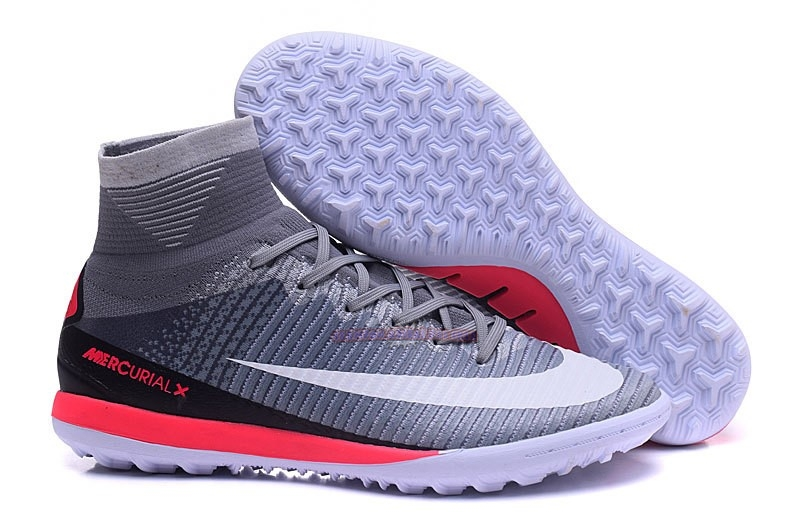 Ventes Nike MagistaX Proximo II TF Gris Blanc Rouge