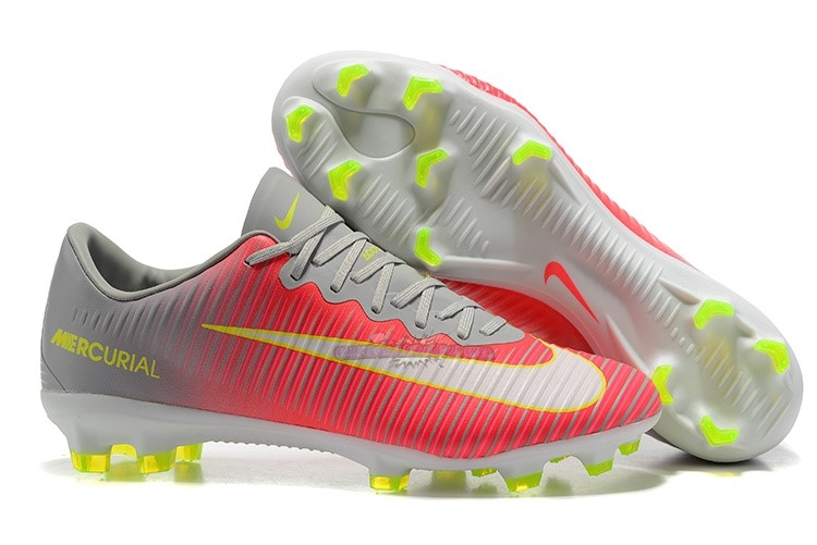 Ventes Nike Mercurial Superfly V FG Gris Rouge Blanc