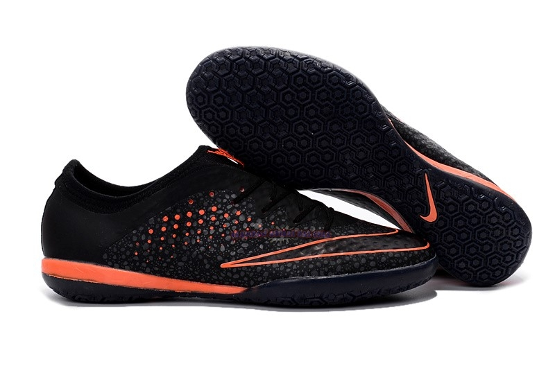 Ventes Nike MercurialX Finale IC Noir Orange