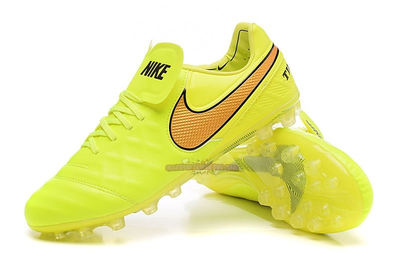 Ventes Nike Tiempo Legend VI AG Vert Fluorescent Orange