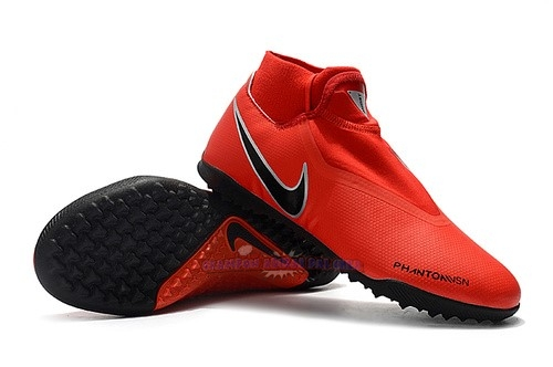 Ventes Nike Phantom Vision Elite DF TF Noir Rouge