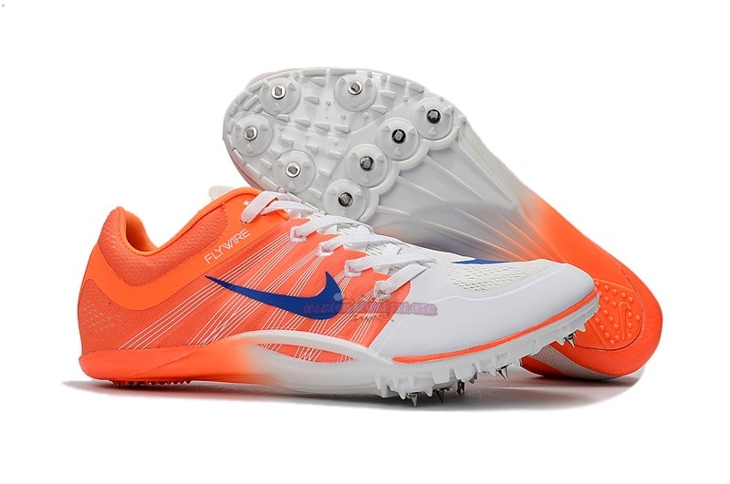 Ventes Nike Sprint Spikes Shoes SG Bleu Blanc Orange