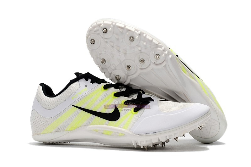 Ventes Nike Sprint Spikes Shoes SG Jaune Blanc Noir