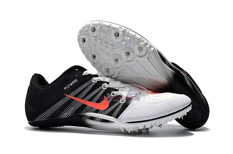 Ventes Nike Sprint Spikes Shoes SG Noir Blanc Rouge