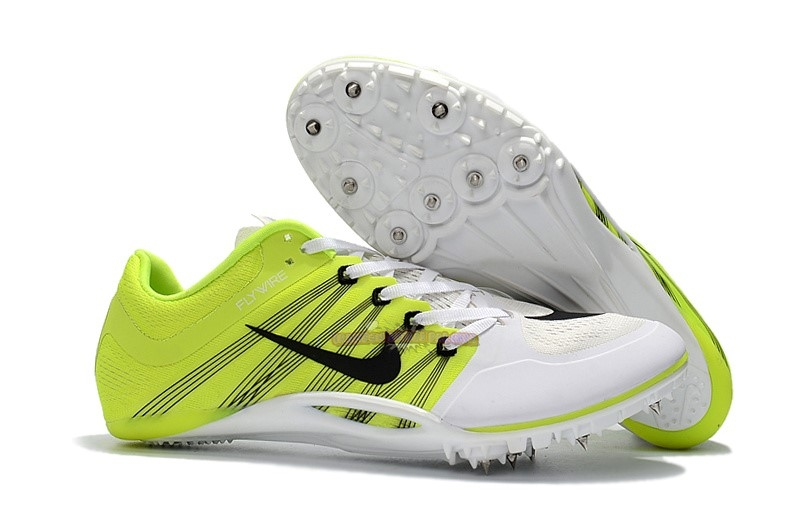 Ventes Nike Sprint Spikes Shoes SG Noir Blanc Vert