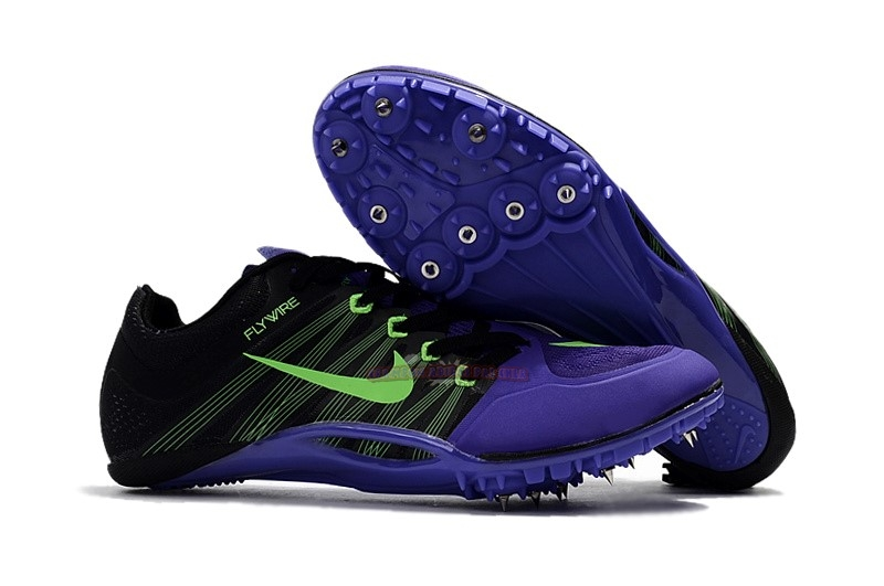 Ventes Nike Sprint Spikes Shoes SG Noir Pourpre