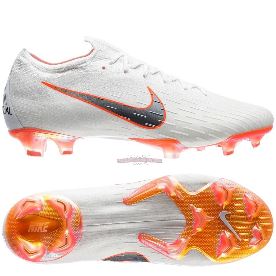 Ventes Nike Mercurial Vapor 12 Elite FG Blanc Orange