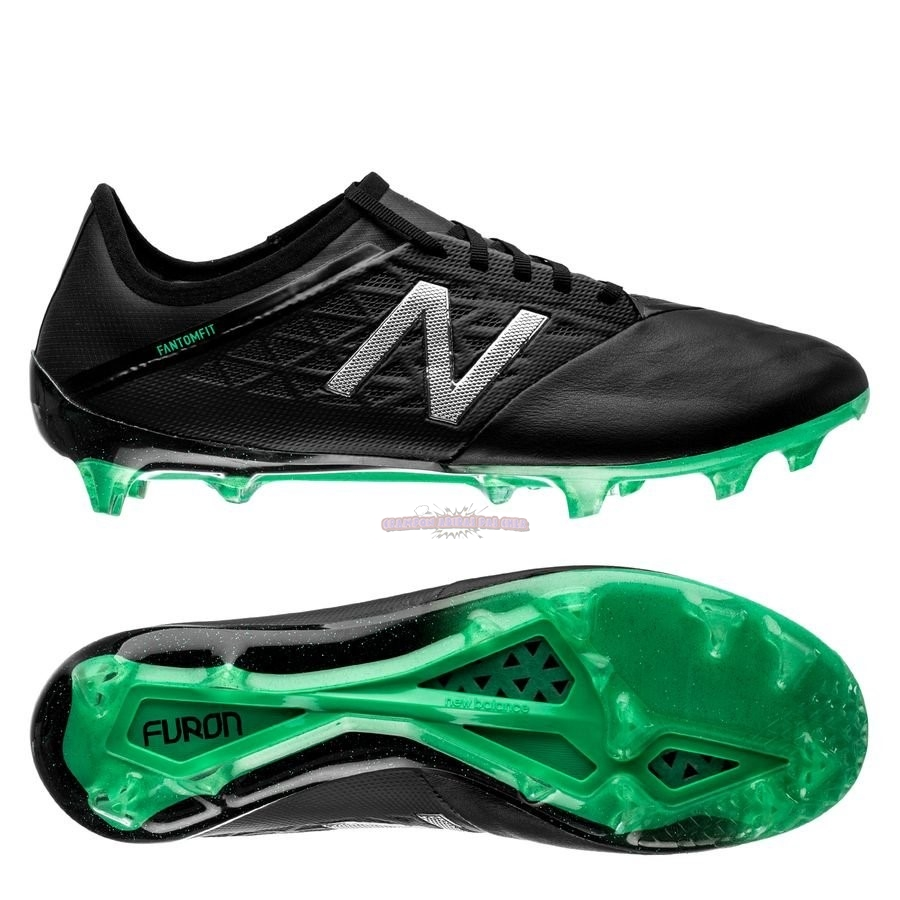 Ventes New Balance Furon 5.0 Pro Leather FG Noir Vert