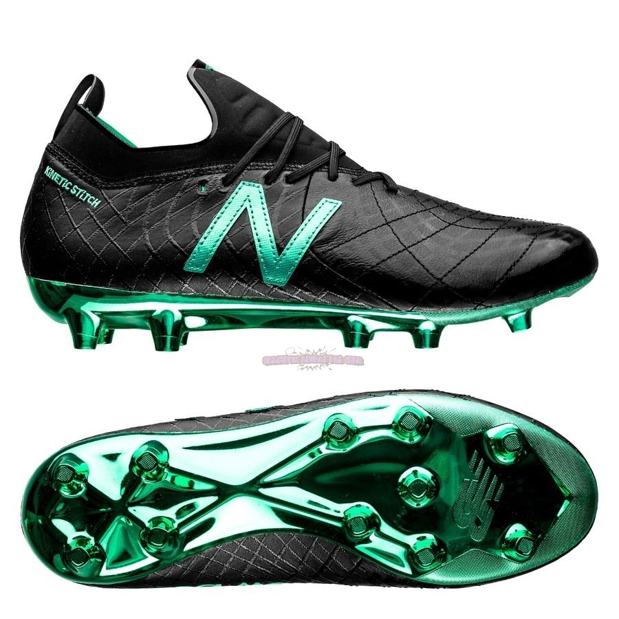 Ventes New Balance Tekela 1.0 Pro Leather FG Noir Vert