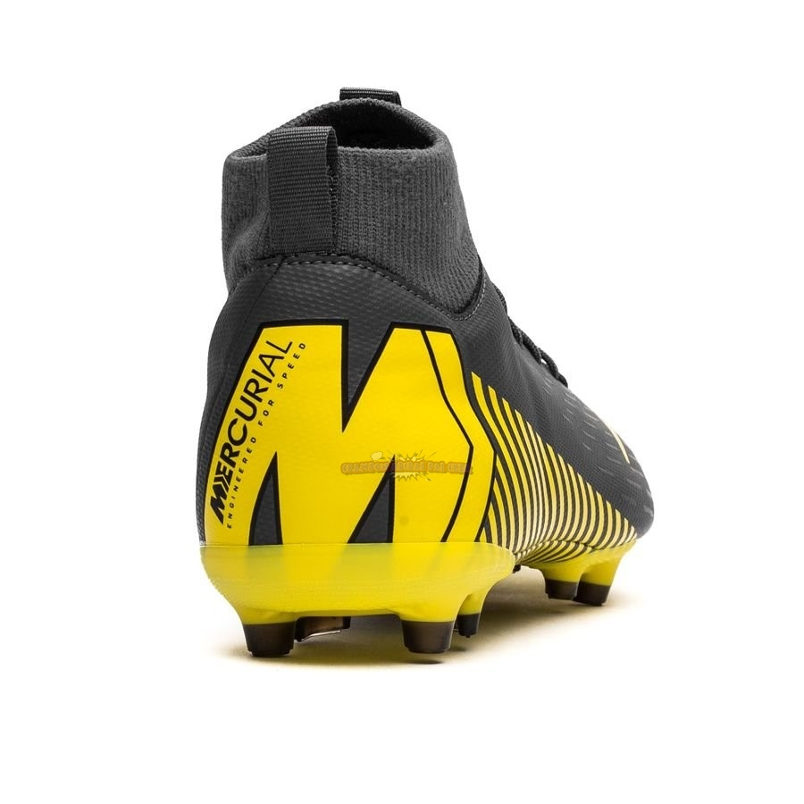 Ventes Nike Mercurial Superfly 6 Academy Enfant MG Game Over Noir Jaune