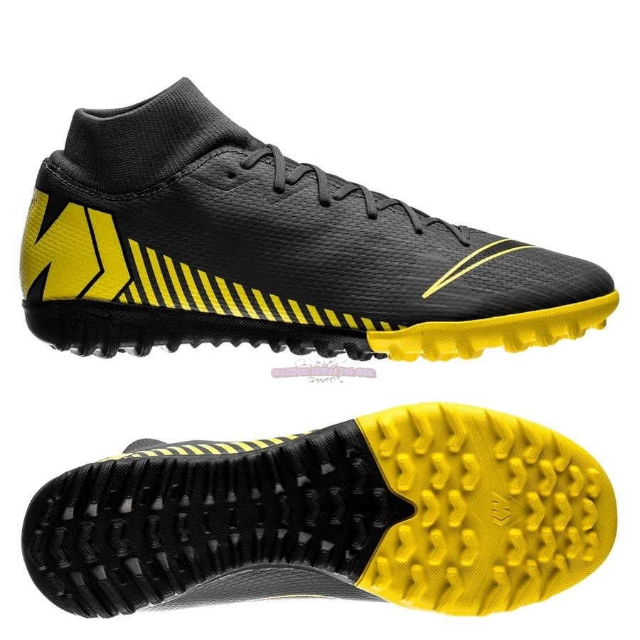 Ventes Nike Mercurial Superfly 6 Academy Enfant TF Game Over Noir Jaune
