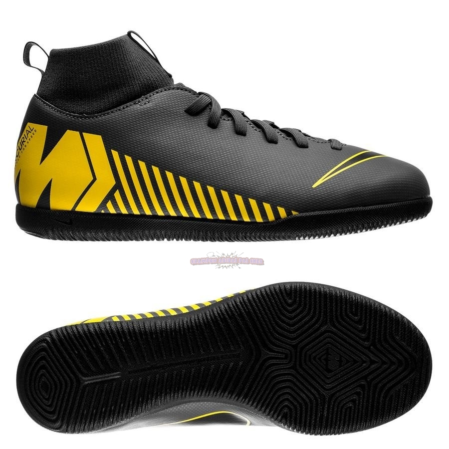 Ventes Nike Mercurial Superfly 6 Club Enfant IC Game Over Noir Jaune