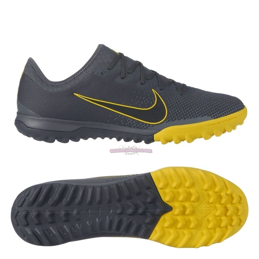 Ventes Nike Mercurial Vapor XII Pro TF Game Over Gris Jaune
