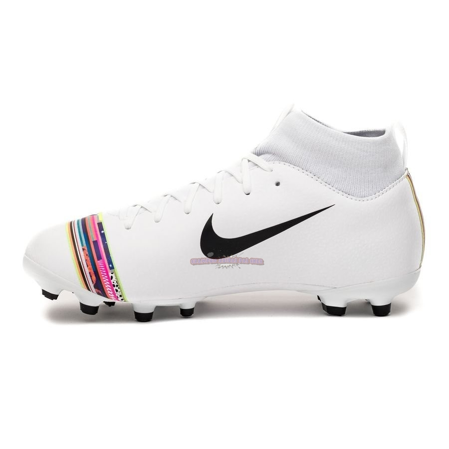 Ventes Nike Mercurial Superfly 6 Academy Enfant MG LVL UP Blanc