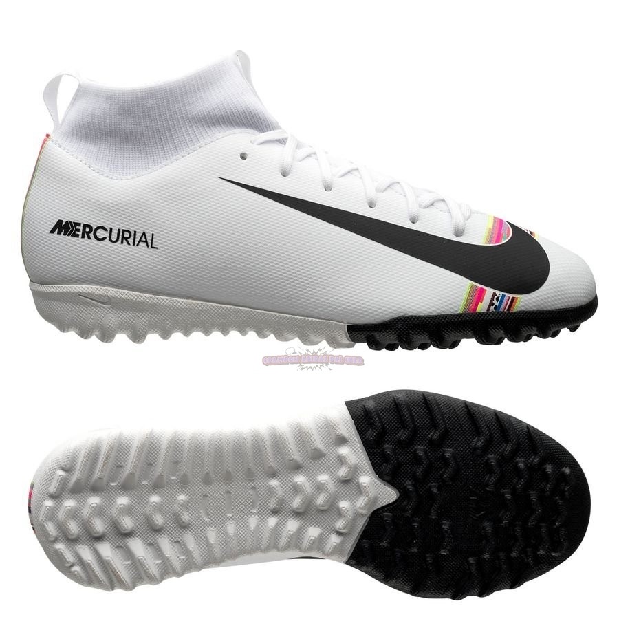 Ventes Nike Mercurial Superfly 6 Academy Enfant TF LVL UP Blanc