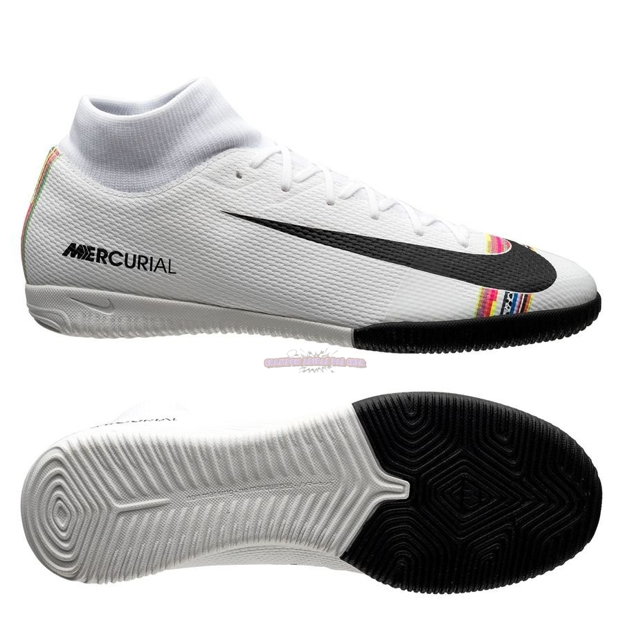 Ventes Nike Mercurial Superfly 6 Academy IC LVL UP Blanc