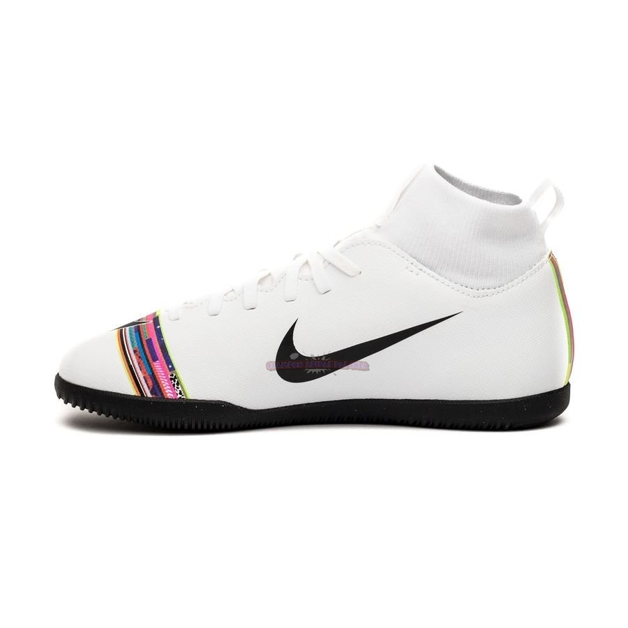 Ventes Nike Mercurial Superfly 6 Club Enfant IC LVL UP Blanc
