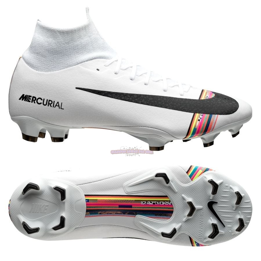Ventes Nike Mercurial Superfly 6 Pro FG LVL UP Blanc