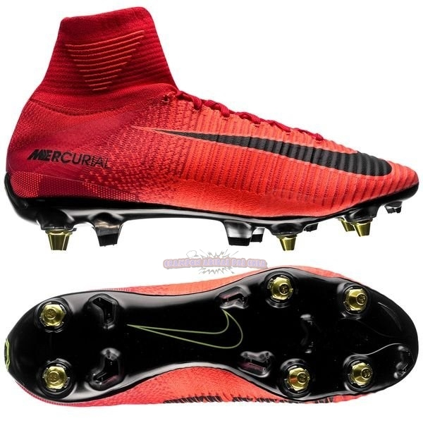 Ventes Nike Mercurial Superfly SG Pro Anti Clog Rouge