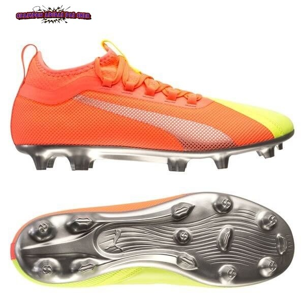 Ventes Puma One 20.2 FG/AG Rise Orange Jaune Argent
