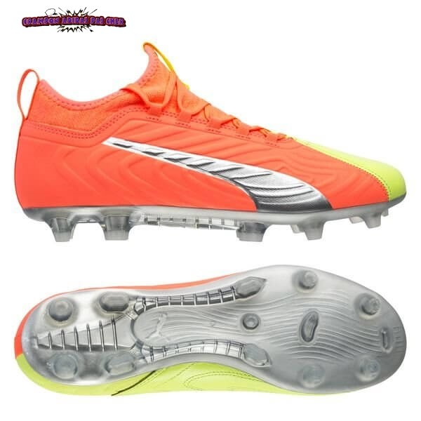 Ventes Puma One 20.3 FG/AG Rise Orange Jaune Argent